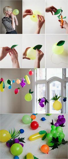 diy crafts: DIY Fruit Balloon