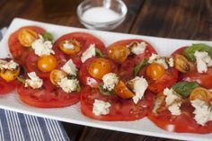 Tomato, Basil & Vegan Cheese - Chef Isabelle Harder