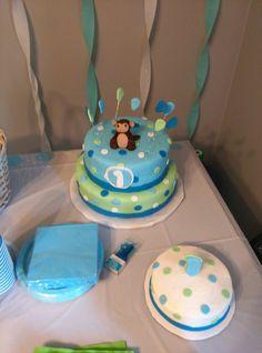 Monkey themed first birthday