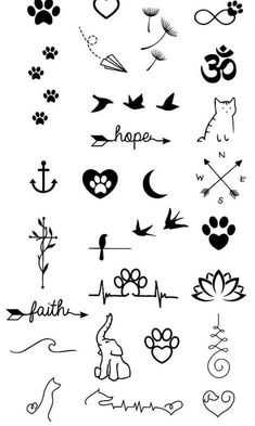 mini tattoos with meaning . mini tattoos for girls with meaning . mini tattoos for women Doodle Tattoo, Kritzelei Tattoo, Tattoo Fonts, Tattoo Quotes, Tattoo Flash, Surf Tattoo, Small Meaningful Tattoos, Cute Small Tattoos, Small Tattoo Designs