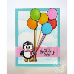 Birthday Smiles 4x6 Photo-polymer Clear Stamps - Sunny Studio Stamps