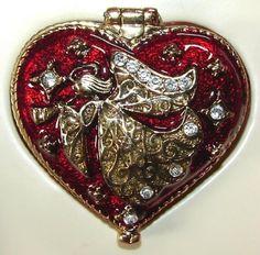 Heart Shaped Angel Trinket Box.