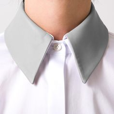 Necessary: the removable leather collar shirt by Adeam #LoveSpring