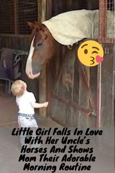 Cute Girl Falls In Love With Her Uncle's Horses And Shows Mom Their Adorable Morning Routine Big Dog Beds, Big Dogs, Cute Baby Animals, Funny Animals, Pet News, Cute Puppy Videos, Girl Falling, Cute Little Girls, Animal Quotes