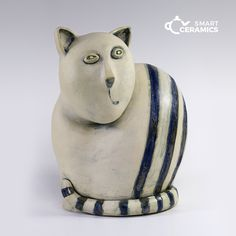 rzeźba KICUR / smart ceramics / Dekoracja Wnętrz / Ceramika #kot