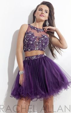 Bead Lace Two Piece Short Purple Homecoming Dresses | Stuff to Buy ...
