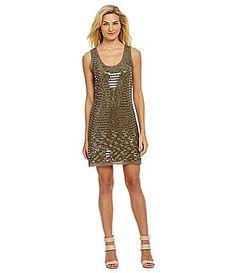 $118 Chelsea and Violet Sequin Dress #Dillards