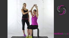Flabby Arm Exercises for Women!  The Overhead Tricep Extention