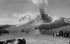 Mt. Lassen erupting 1914