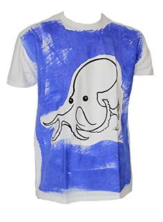 Berlato Pulpo Talla XL75/58 cm Camiseta de Hombre 100% algodón, Man Cotton t-Shirt. Berlato Man, Mens Tops, T Shirt, Character, Fashion, Cotton T Shirts, Octopus, Photo Storage, Men