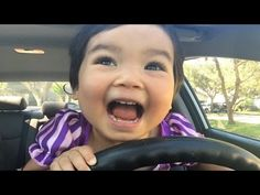 Baby Rapunzel Drives a Car?? w/ Catwoman, Police, Snow white, Frozen Elsa, Vampire - YouTube