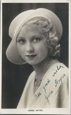 Gwen Hayes, 1930s Theatre actress - Hand Signed photograph. Glamour