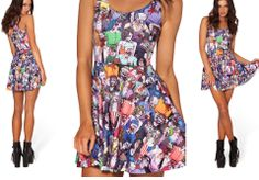 2014 New Hot Sexy Top Sale Vest Womans GALAXY Woah Dude 2.0 Girls Fashion Dresses Pleated Digital Print Dress Free Shipping S-L $11.97