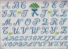 alfabeto iniziali bouquet - magiedifilo.it punto croce uncinetto schemi gratis hobby creativi