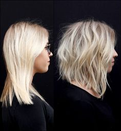 Angled choppy blonde bob hairstyles ideas women Best Picture For lob haircut fine For Your Taste You Short Choppy Layered Hair, Short Wavy Hair, Short Hair With Layers, Medium Layered, Choppy Lob, Hair Cuts Choppy, Lob Layered Haircut, A Line Short Hair, Curling Short Hair