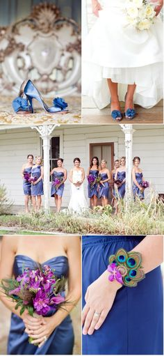 Something (New) Blue? How about a Peacock feather corsage? This was actually a friends wedding but we figured we'd show it to you anyway. Very nice.