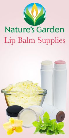 Lip Balm Supplies at Natures Garden.  Learn how to make your own natural lip balm, lip butters.  All supplies are wholesale priced for everyone.  #lipbalmsupplies