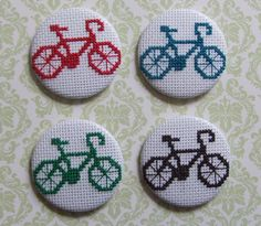 cross stitch buttons