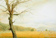 쓸쓸해보이는 나무, trees swayed the wind.  by babobox33