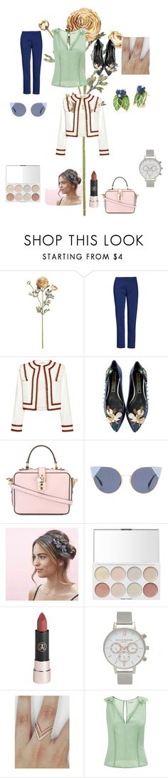 """Город"" by annanikolova on Polyvore featuring мода, Chaus, Ganni, Marc Jacobs, Dolce&Gabbana, Fendi, Olivia Burton и La Perla"