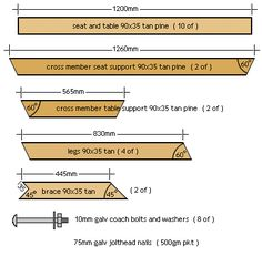 bbq table parts