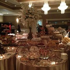 Decadent sweet table! Elegant Centerpieces, Dessert Table, Table Settings, Table Decorations, Sweet, Ideas, Home Decor, Candy, Decoration Home