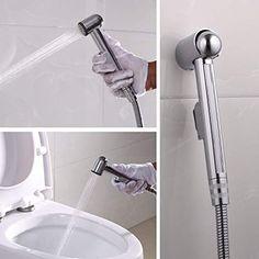 Sprayer Head only Handheld Bidet Sprayer Head Stainless Steel Bathroom Bidet Spray Toilet Faucet Sprayer for Shower Bathroom Douche Shattaf Hygiene Toilet Cloth Diaper Cleaning