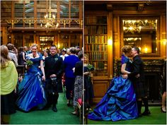 Beautiful Tamsyn wore a striking blue wedding gown by couture bridal designer Angelina Colarusso.