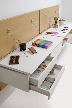 Light & Elegant: Minimalist Wall-Hanging Modular Furniture