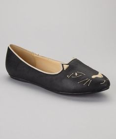 Cat Flats by Bumper on #zulily .  How uniquely cute!