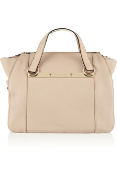 Leather Tote Look (CHLOÉ Bridget small textured-leather tote)