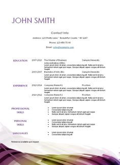 Printable Resume Template Free Printable Resume Template With Monograminstant Download As