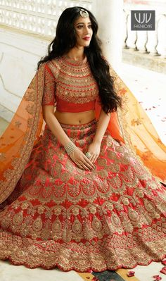 Shop Bridal Lehenga Blouse Collection Online with the best price. Flaunt the latest Bridal styled cuts and look with these Indian Dresses, Give yourself the stylish look for Wedding & Receptions. ⇒ Have a Glance at the Collection Now: Designer Bridal Lehenga, Lehenga Choli Wedding, Indian Bridal Lehenga, Pakistani Bridal, Indian Bridal Outfits, Indian Bridal Fashion, Indian Bridal Wear, Indian Dresses, Lehenga Choli Designs