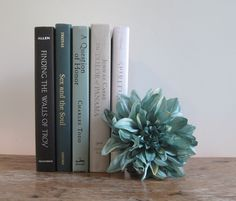 Gray Teal and Ivory Decorative Books Set Stack of Books Wedding Centerpiece Book Bundle Teal Bo Arranging Bookshelves, Book Wedding Centerpieces, Orange Book, Shabby Chic Farmhouse, Wedding Book, Tree Wedding, Wedding White, Wedding Flowers, Painted Books