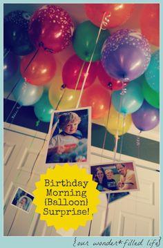 Birthday Morning Balloons {& More} Surprise!