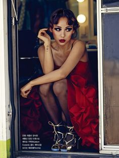 Lee Hyori in Jaison Couture photographed by Hong Jang Hyun for Vogue Korea, May 2013.