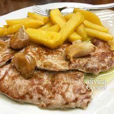 Este receta de lomo de cerdo al ajillo es fácil de preparar, rico y sencillo, y lo puedes hacer igualmente con filetes de pollo o pavo.