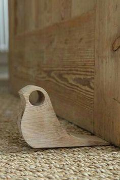 Birdie doorstop, simple beginning woodworking project
