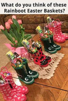 Cute idea for Easter baskets #babygiftbaskets