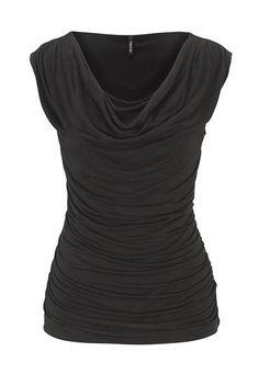 <ul><b>Overview</b><li>drape neckline</li><li>figure flattering ruched sides</li><li>ruched sleeves</li><li>super soft fabric</li><li>perfect for layering</li><li>dress up or down</li></ul><ul><b>Fabric and Care</b><li>Style Number: 26388</li><li>Imported</li><li>95% rayon 5% spandex</li><li>Machine wash</li></ul>