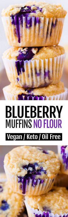 These quick and super healthy low carb keto blueberry muffins are easy to make and impossible to stop eating! These quick and super healthy low carb keto blueberry muffins are easy to make and impossible to stop eating! Keto Blueberry Muffins, Blue Berry Muffins, Flourless Muffins, Pineapple Muffins, Blueberry Breakfast, Low Carb Desserts, Low Carb Recipes, Dessert Recipes, Paleo Dessert