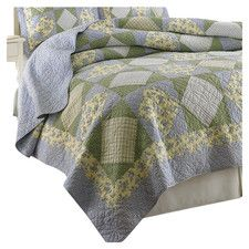 Laura Ashley Roseland Floral 3-Piece Cotton Reversible Quilt Set ... : laura ashley caroline quilt - Adamdwight.com