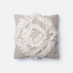 Hemp textured throw pillow