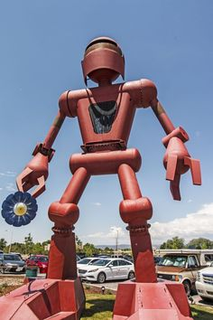 This massive metal robot dominates the parking lot outside a converted bowling alley that is now the interactive art complex known as Meow Wolf. While far from the only huge sculpture outside the building, there's something about this robot that makes you want to pose for a selfie with the metal giant. Meow Wolf can be found at 1352 Rufina Circle, Santa Fe.