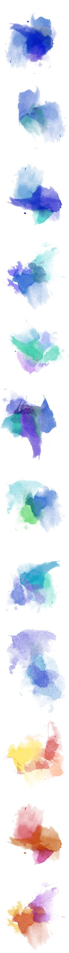 Watercolor Splashes -- Happy New Year by jilbert on Polyvore featuring splashes, paint, watercolor, art, backgrounds, effects, layers, blue, effect and fillers