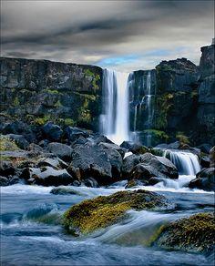 Öxarárfoss, Þingvellir #Iceland