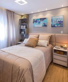 Modern and Small Bedroom Interior Design Ideas ! Part bedroom ideas; bedroom ideas for small room; Small Bedroom Interior, Small Apartment Bedrooms, Small Apartments, Bedroom Decor, Bedroom Ideas, Design Bedroom, Modern Kitchen Interiors, Bedroom Pictures, Woman Bedroom