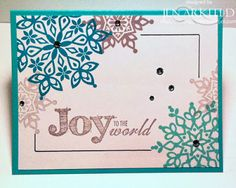 Stamped Silly: Manic Monday! 10 minute Cards (or less!) Using Festive Flurry & Joy to the World stamps. {Jen Arkfeld}