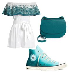 """Untitled #29"" by changeme2003 on Polyvore featuring Mara Hoffman, Converse and Halogen"