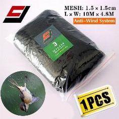 [ 20% OFF ] Deep Huge Pockets 10M X 4.8M 15Mm Hole Orchard Garden Anti Bird Net Nylon Monofilament 0.11Mm Knotted Mist Net 1Pcs
